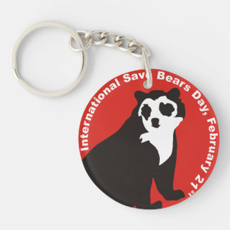 ISBD two sided key chain Andean Bear