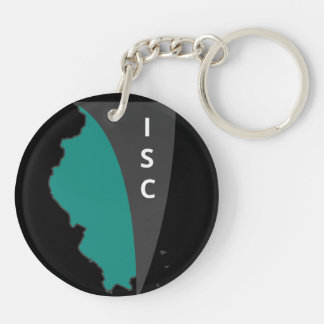 ISC Black Double-Sided Keychain