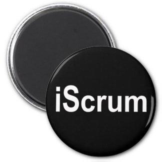 iScrum Rugby Scrum Tshirt 2 Inch Round Magnet