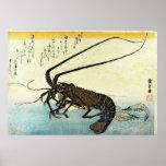 Iseebi & Ebi - Hiroshige's Japanese Fish Print