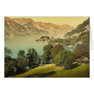 Iseltwald and Brienz Lake, Bernese Oberland, Switz Greeting Card