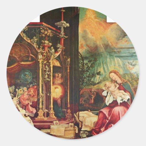 Isenheim Altarpiece Formerly The Main Altarpiece O Sticker