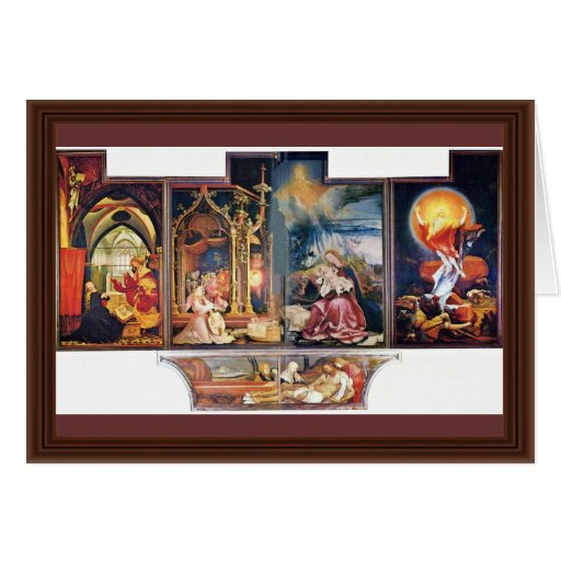 Isenheim Former Altar Altar In The Antonine Isenhe Greeting Card