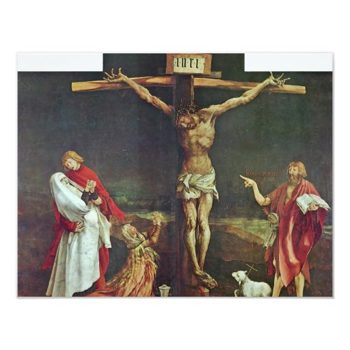 Isenheim Former Altar Altar In The Antonine Isenhe 4.25x5.5 Paper Invitation Card