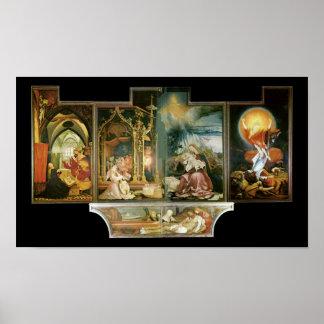 Isenheimer Altar, Mathis Gothart Grünewald Poster
