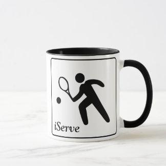 iServe Tennis Mug