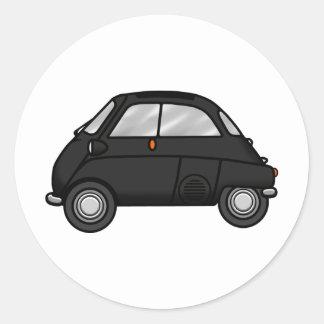 isetta black classic round sticker
