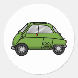 isetta green classic round sticker