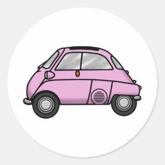 isetta pink classic round sticker