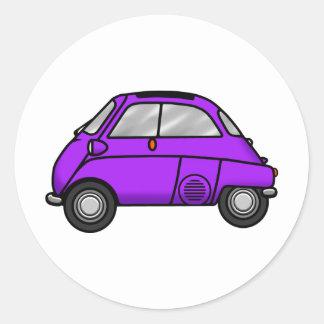 isetta purple classic round sticker