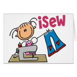 iSew Stick Figure T-Shirts, Gifts, and Apparel Greeting Card