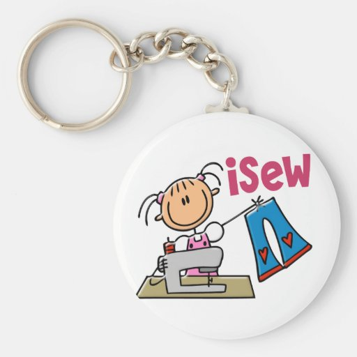 iSew Stick Figure T-Shirts, Gifts, and Apparel Key Chains