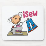 iSew Stick Figure T-Shirts, Gifts, and Apparel Mouse Pad