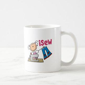 iSew Stick Figure T-Shirts Gifts and Apparel Coffee Mug