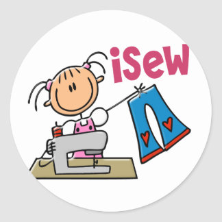 iSew Stick Figure T-Shirts, Gifts, and Apparel Sticker