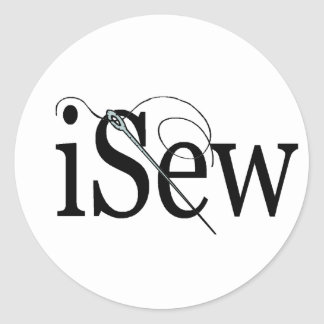 iSew T-shirts and Gifts. Classic Round Sticker