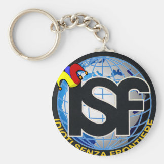 ISF il portachiavi Basic Round Button Keychain