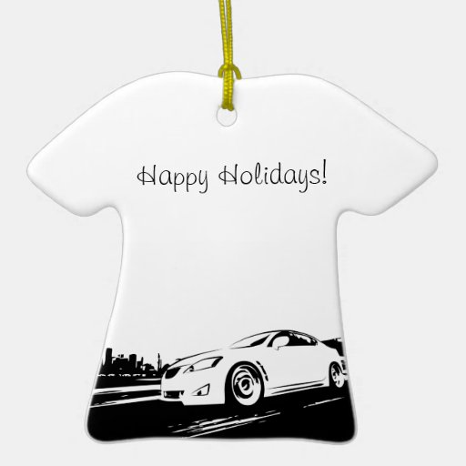 ISF rolling shot Double-Sided T-Shirt Ceramic Christmas Ornament