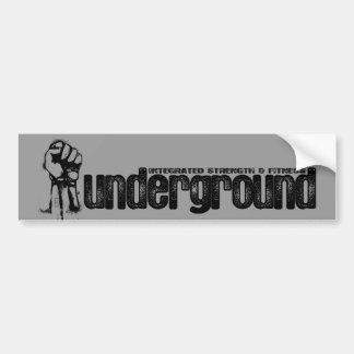 ISF Underground Logo Bumper Sticker