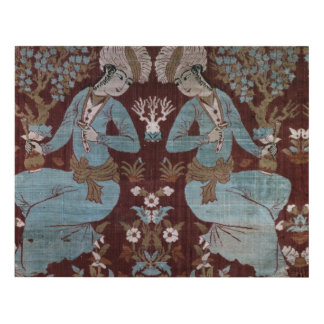 Isfahan style panel, Persian, 17th century (silk) Panel Wall Art