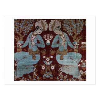 Isfahan style panel, Persian, 17th century (silk) Postcard