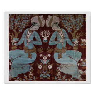 Isfahan style panel, Persian, 17th century (silk) Poster