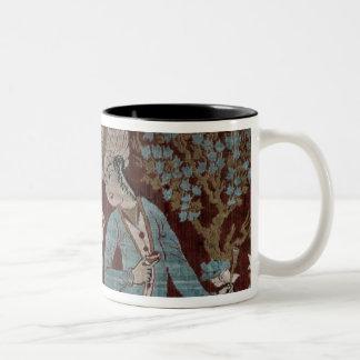 Isfahan style panel, Persian, 17th century (silk) Two-Tone Coffee Mug