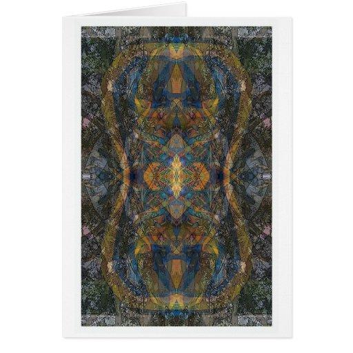 Ish del fractal del modelo del lagarto del caleido tarjeta