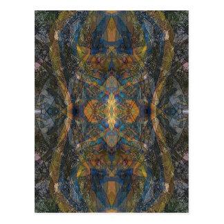 Ish del fractal del modelo del lagarto del caleido postales