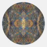 Ish del fractal del modelo del lagarto del pegatina redonda