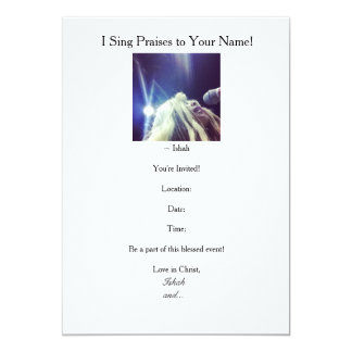Ishah's I Sing Praises to Your Name Invitations