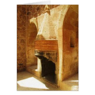 Ishak Pasha Palace fireplace Card