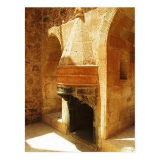 Ishak Pasha Palace fireplace Postcard