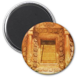 Ishak Pasha Palace window - photograph 2 Inch Round Magnet