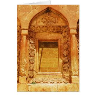 Ishak Pasha Palace window - photograph Card