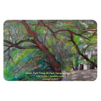 Isham Park Trees At Part Terrace West NYC Rectangular Photo Magnet