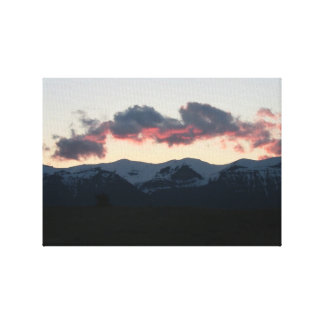 Ishawooa Wyoming Landscape Skyscape Waterscape Stretched Canvas Print