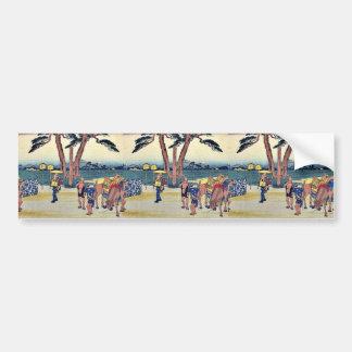 Ishibe by Ando, Hiroshige Ukiyoe Bumper Sticker