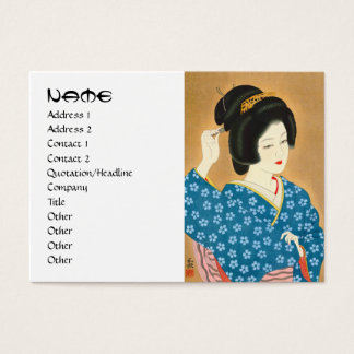 Ishida Waka Spring Sentiment japanese lady woman Business Card