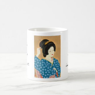 Ishida Waka Spring Sentiment japanese lady woman Coffee Mug