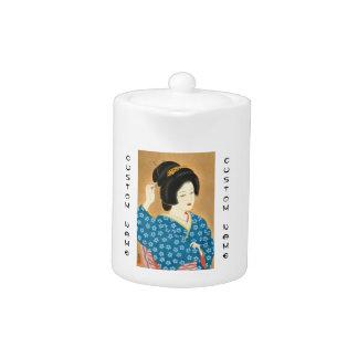 Ishida Waka Spring Sentiment japanese lady woman Teapot