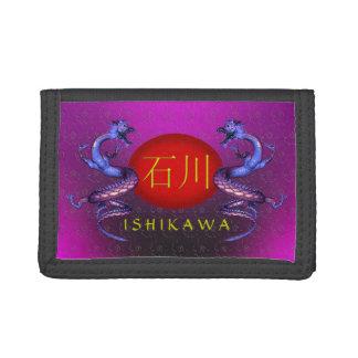 Ishikawa Monogram Dragon Trifold Wallet