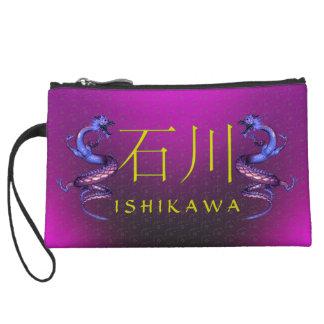Ishikawa Monogram Dragon Wristlet Wallet