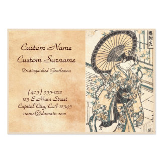 Ishikawa Toyonobu Young Lady with Parasol Large Business Cards (Pack Of 100)