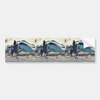 Ishiyakushi by Ando, Hiroshige Ukiyoe Bumper Sticker