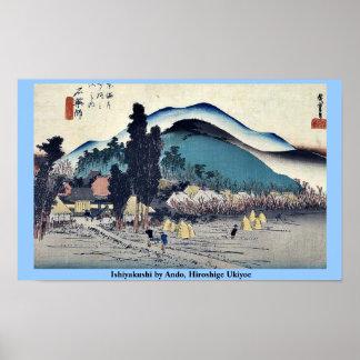 Ishiyakushi by Ando, Hiroshige Ukiyoe Poster