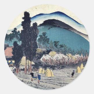 Ishiyakushi por Ando, Hiroshige Ukiyoe Etiqueta Redonda