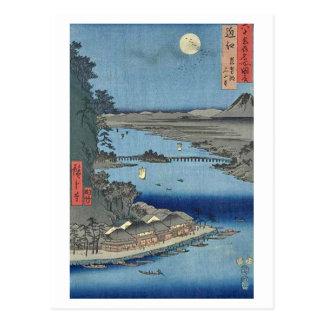 Ishiyama on Biwa Lake Omi Postcard