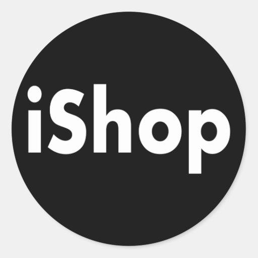 iShop Pegatina Redonda