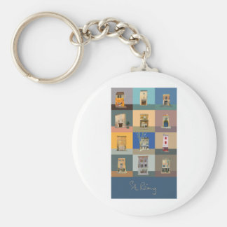 ISHOPS OF ST REMY DE PROVENCE BASIC ROUND BUTTON KEYCHAIN